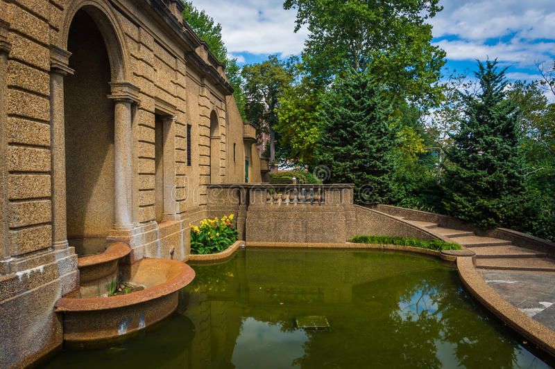 Pool and gardens at Meridian Hill Park, in Washington, DC. Pool and gardens at Meridian Hill Park, in Washington, DC royalty free stock photo