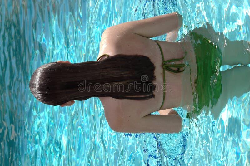 Pool girl stock photography