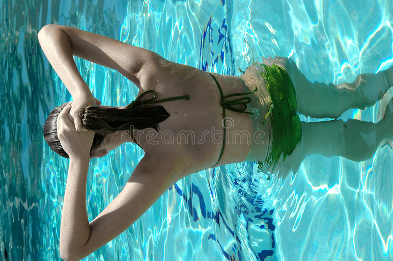Pool girl royalty free stock image