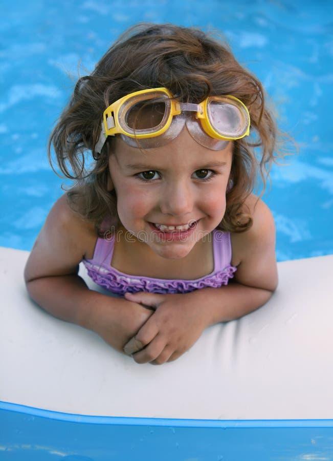 Pool girl stock photos