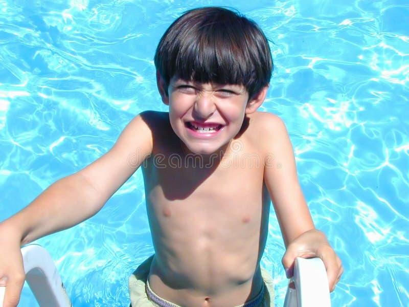 Pool glücklich stockbild