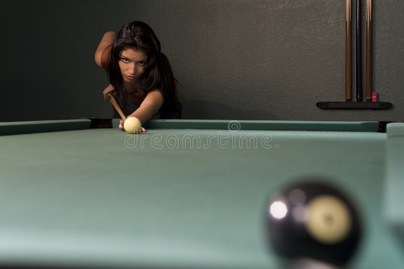 Pool Hall Beauty Royalty Free Stock Photography