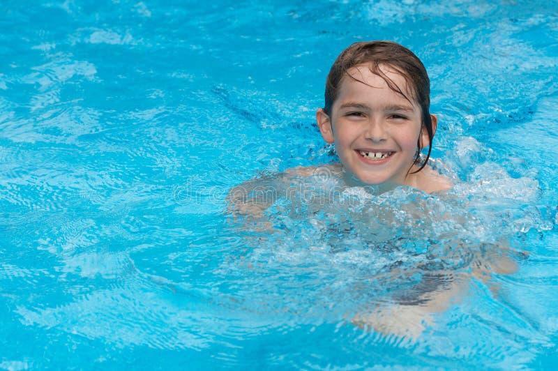 Pool happy stock image