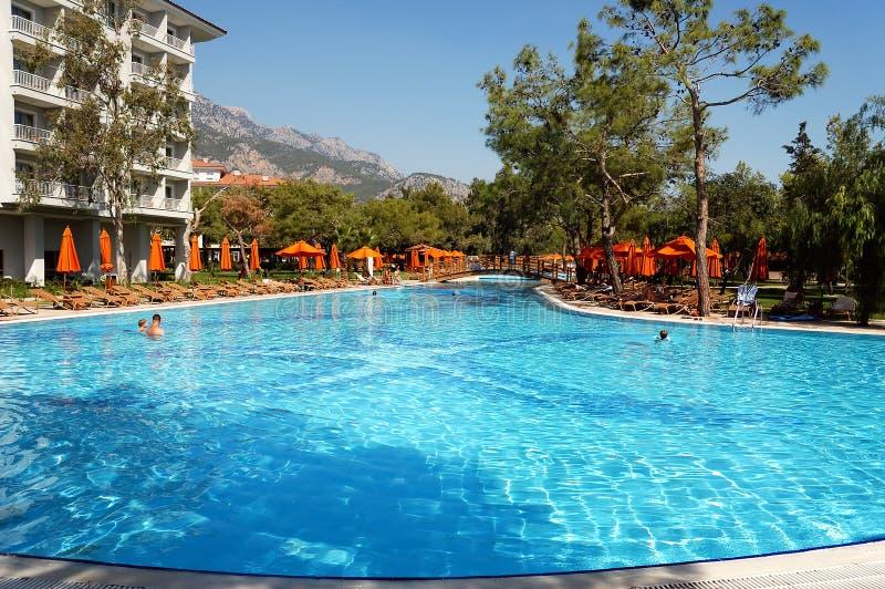 Pool in hotel stock fotografie