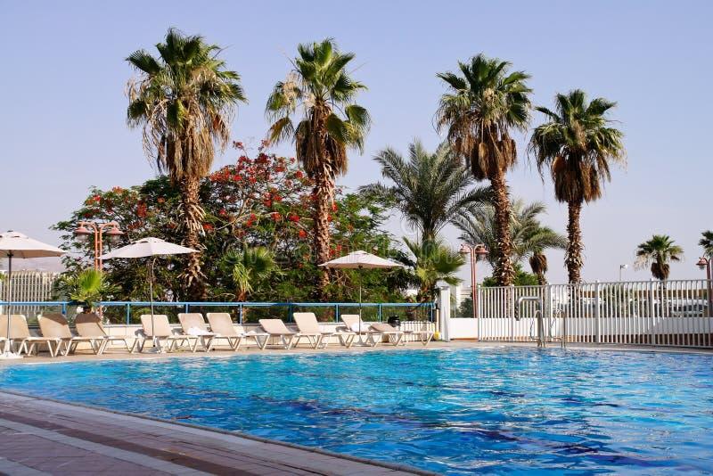 Pool in hotel stock image