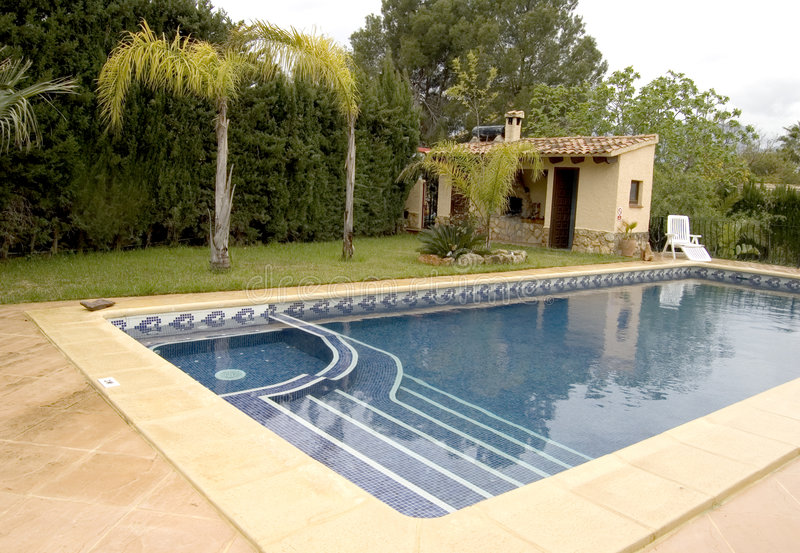 Download Pool with jacuzzi stock image. Image of relax, villa, jacuzzi - 2254403