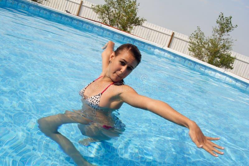 Pool Jazzercize royalty-vrije stock fotografie
