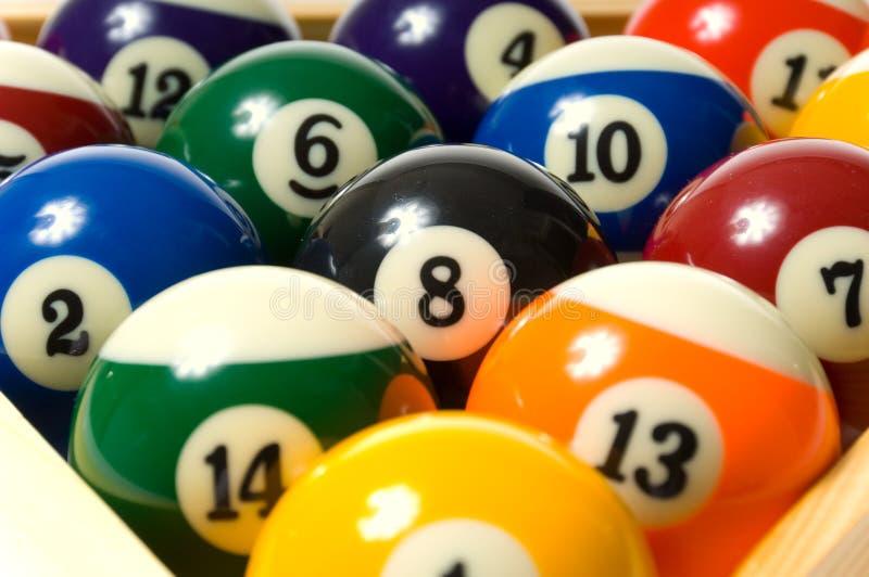 Pool-Kugel auf Weiß lizenzfreies stockfoto
