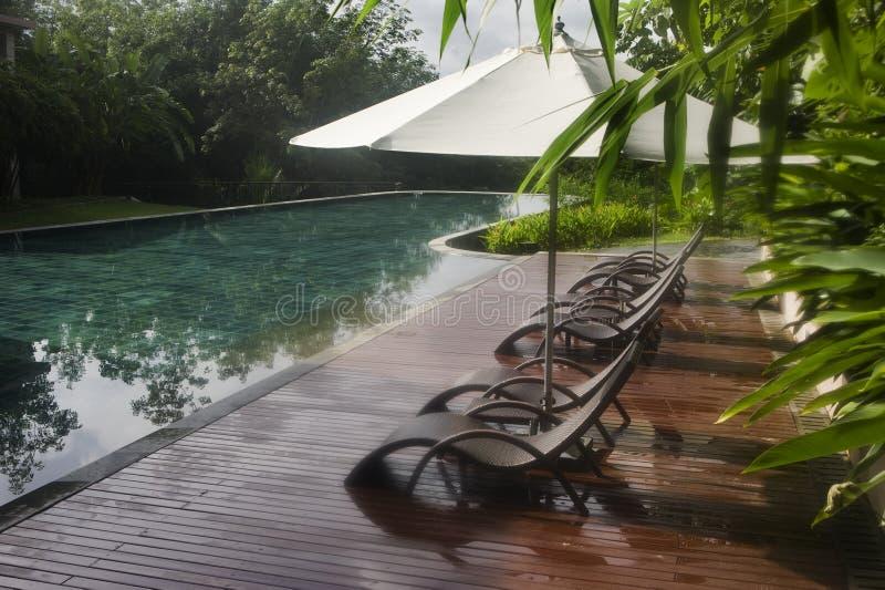 Pool, kuuroord stock foto