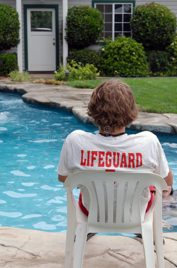 Free Pool Lifeguard Royalty Free Stock Image - 2555056