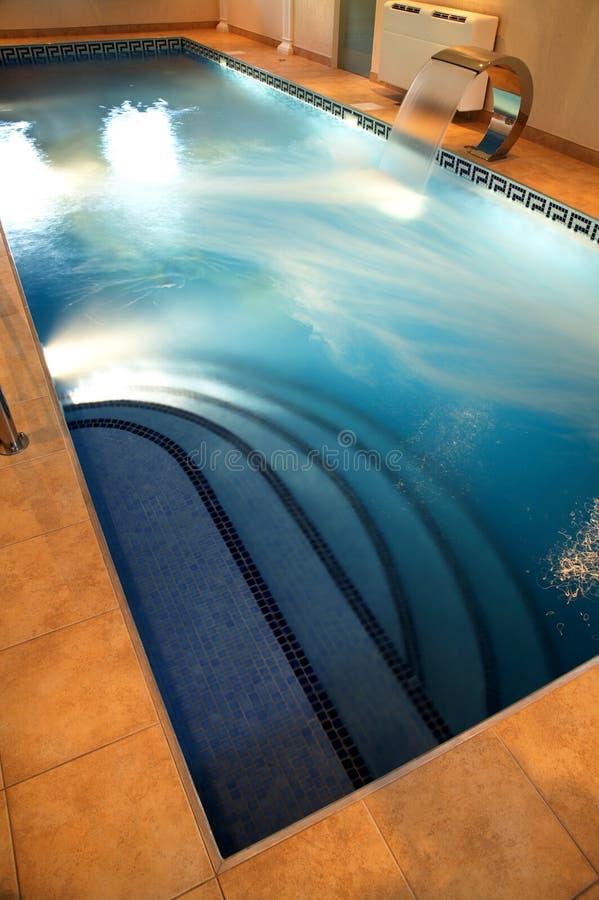 Pool met huidig water royalty-vrije stock afbeelding
