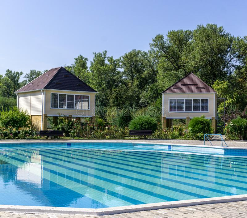 Pool met thermisch water royalty-vrije stock fotografie