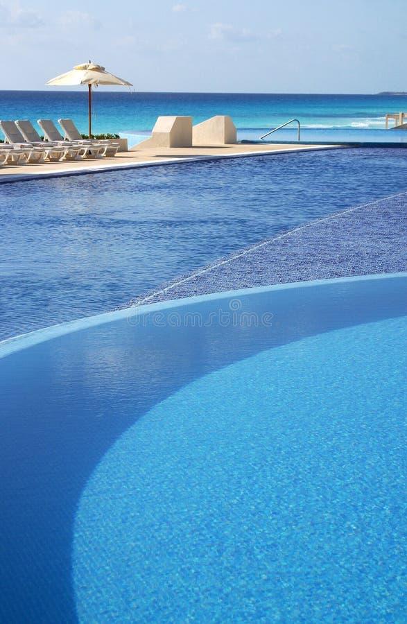 Pool in Mexico royalty-vrije stock foto's