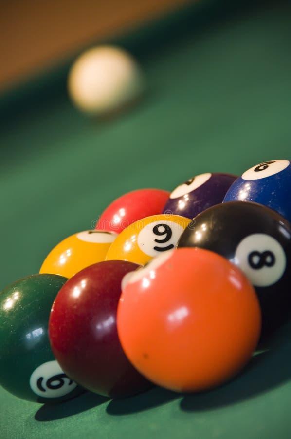 Pool mit neun Kugeln lizenzfreies stockbild