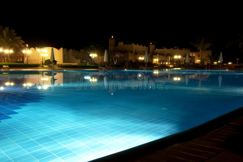 Download Pool by night stock photo. Image of accommodate, fancy - 13132730