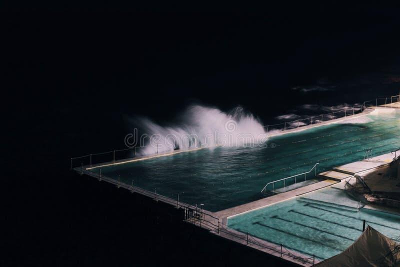 Pool Night Ocean Wind Water Turquoise stock photo