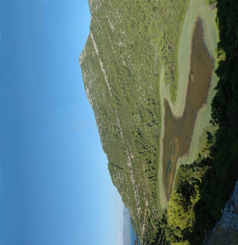 Pool op eiland Mljet stock afbeeldingen