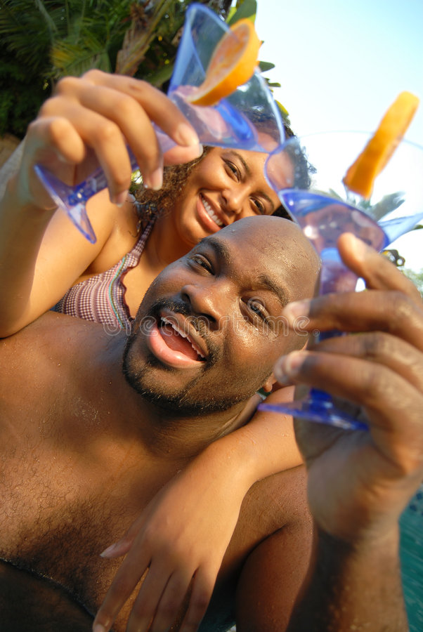 Download Pool party stock image. Image of flirting, fitness, african - 5536039