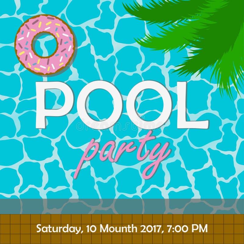 Pool-Party-Einladung Oder Plakat, Fahne Schablone Für Laden Karte ...