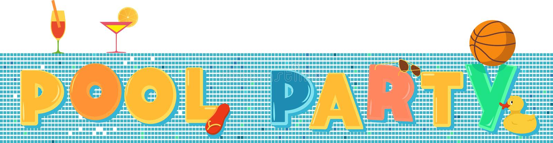 Pool-Party-Fahne vektor abbildung