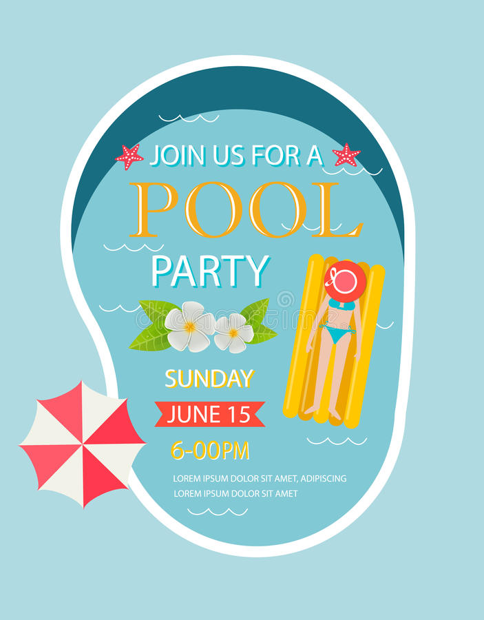 Pool party invitation with top view of pool stock vector download pool party invitation with top view of pool stock vector illustration of illustration stopboris Gallery