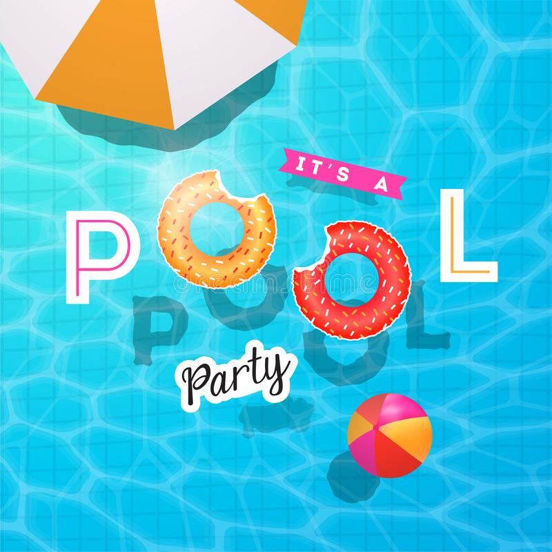 Free Pool Party Summer Vector Illustration Royalty Free Stock Photos - 117313848