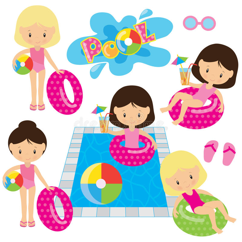 Download Pool Party Vector Illustration Stock Vector - Illustration of kids, party: 66905493