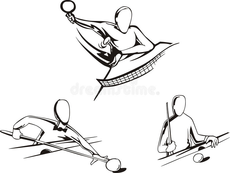 Pool And Ping-pong Stock Images