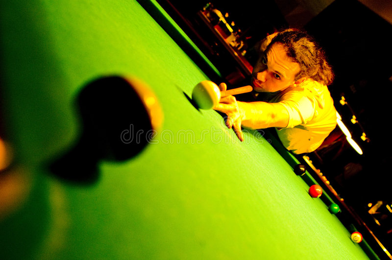 Pool player royalty free stock photo