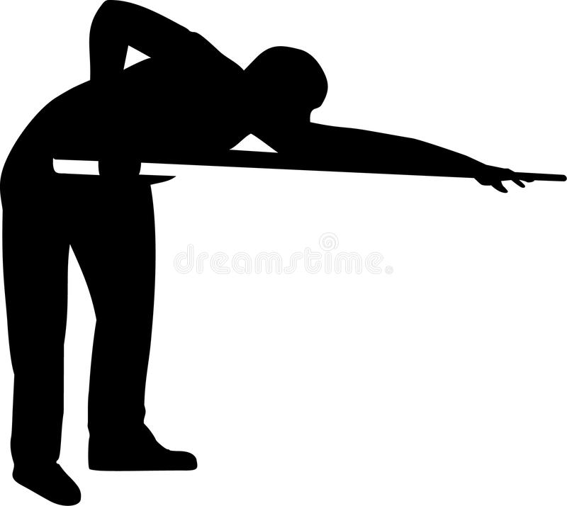 Pool Player Silhouette royalty free illustration