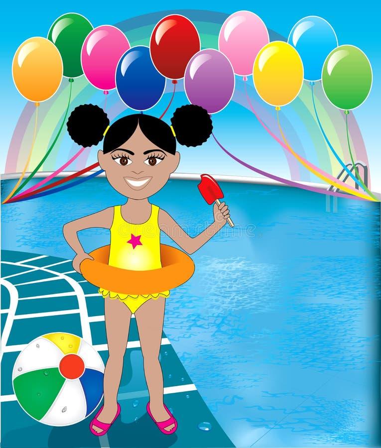 Download Pool Popsicle Girl stock vector. Illustration of cream - 24550542