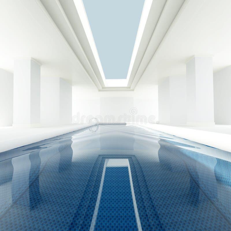Pool privé intérieur illustration de vecteur