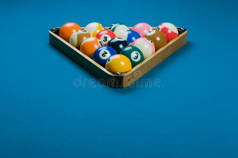 Pool rack royalty free stock photo