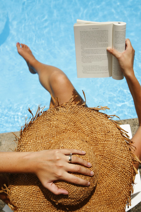 Pool Reading stock photography
