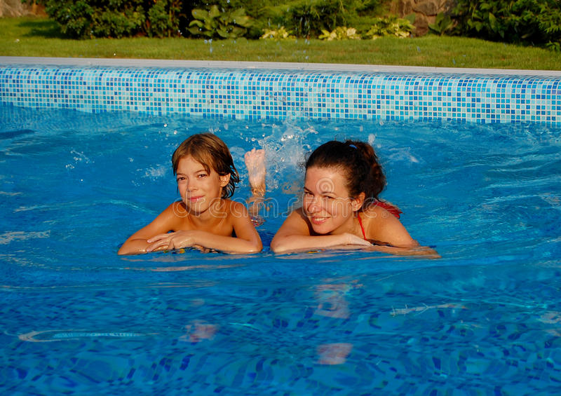 Download Pool relax stock photo. Image of smiling, mother, beauty - 16131934