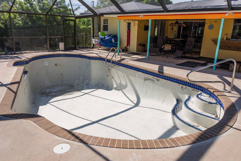 Pool remodel work in progress stock photos