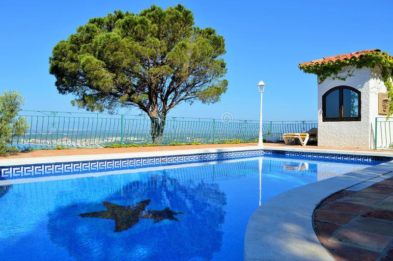 Pool in resort royalty free stock photos