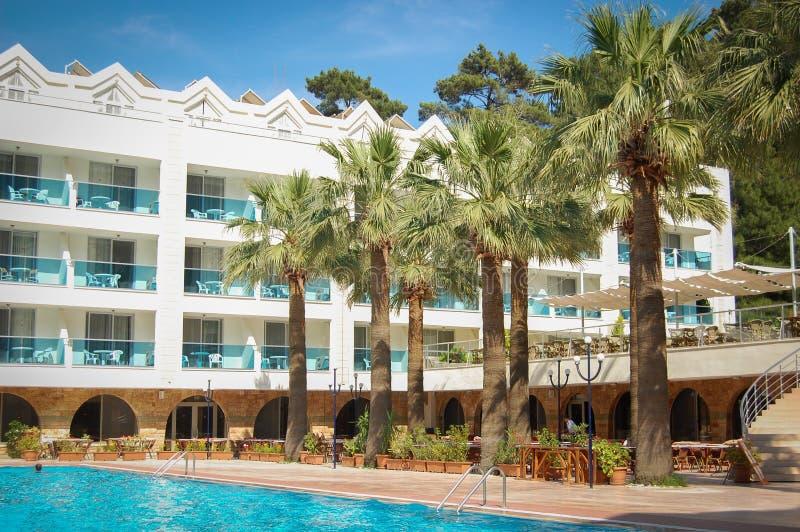 Pool in resort stock photo