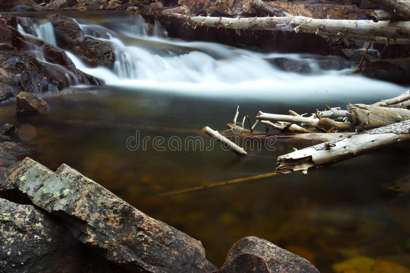 The Pool at Rocky Mountain National Park. The Pool along Fern Lake Trail at Rocky Mountain National Park stock photos
