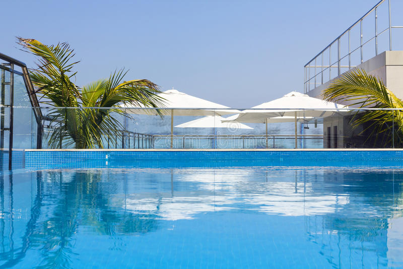 Pool on the roof royalty free stock image