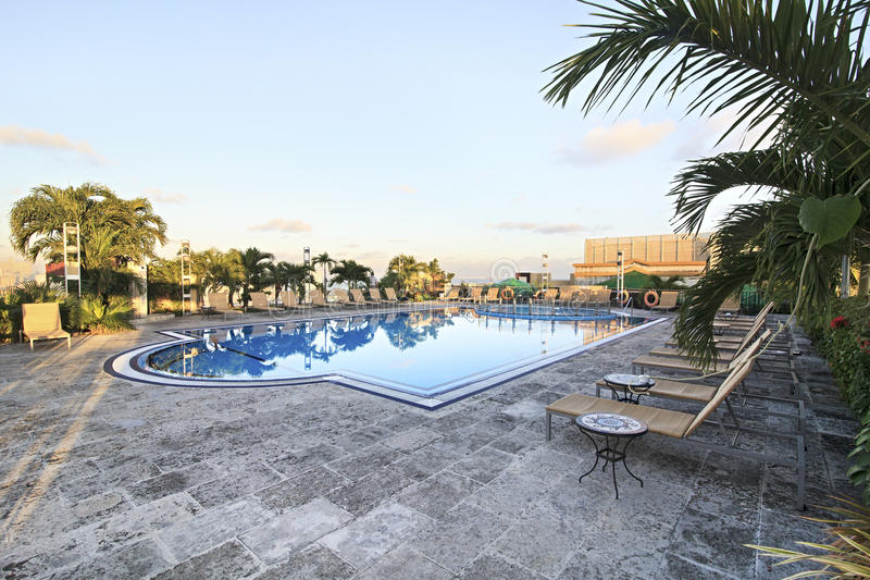 Download Pool on rooftop of hotel. stock image. Image of cuba - 25858277