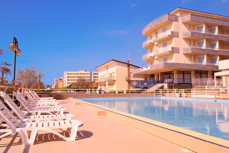 Pool scene from Lido di Jesolo. Italy royalty free stock photo
