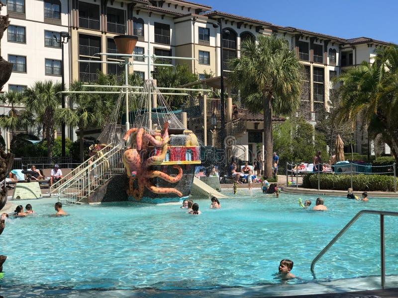 Pool at Sheraton Vistana Villages, Orlando, Florida. The pool at Sheraton Vistana Villages in Orlando, Florida stock photography