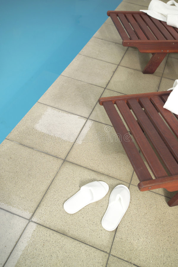 Pool side royalty free stock image