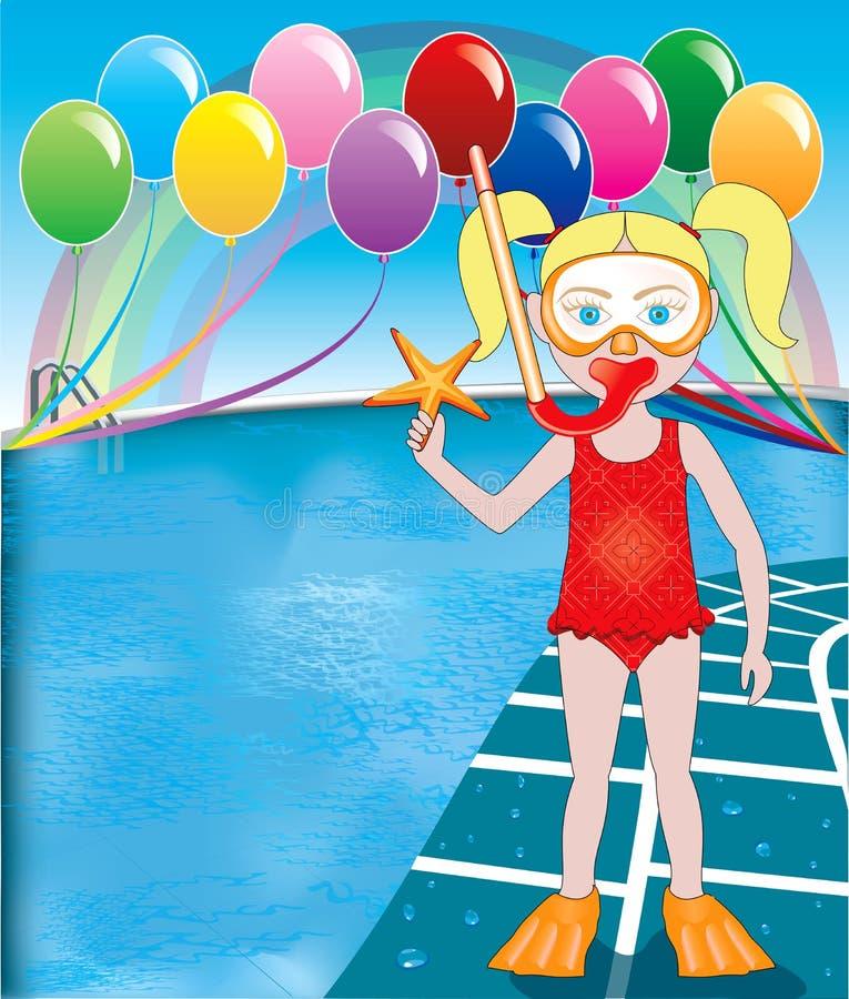Download Pool Snorkel Girl Royalty Free Stock Images - Image: 24550549