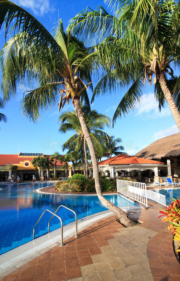 Pool in Sol Cayo Guillermo royalty free stock photography