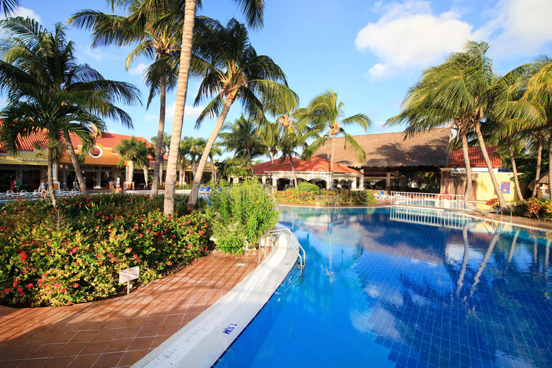 Pool in Sol Cayo Guillermo stock photography