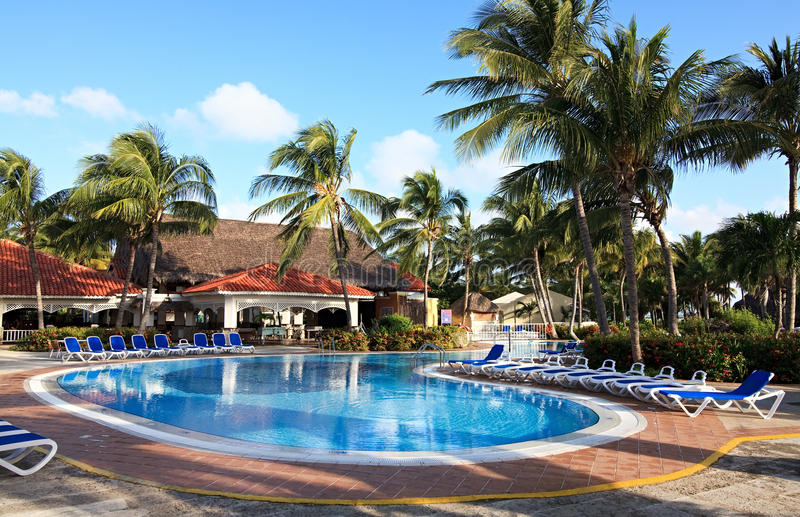 Pool in Sol Cayo Guillermo stock image
