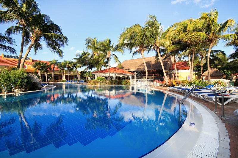 Pool in Sol Cayo Guillermo royalty free stock photo