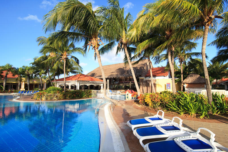 Pool in Sol Cayo Guillermo royalty free stock image